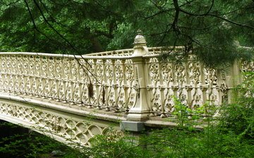 мост, нью-йорк, центральный парк, нью - йорк