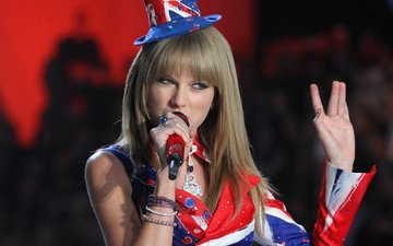 microphone, singer, hat, fashion, show, taylor swift