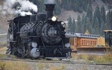 railroad, the engine, colorado, durango, silverton, narrowgage