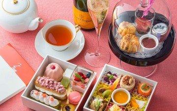 чай, шампанское, пирожные, afternoon tea