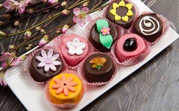 сладкое, десерт, в шоколаде, пирожное, кулич, сладенько