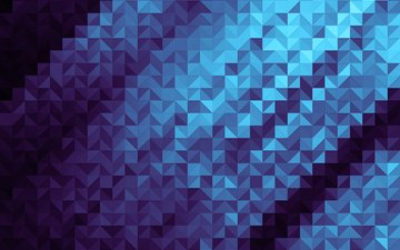 abstraction, blue, pattern, color, triangle, square
