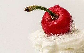 крем для торта, ягода, вишня, вишенка