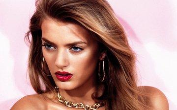 глаза, девушка, взгляд, модель, лицо, голубые, макияж, шатенка, bregje heinen, бриджи хейнен
