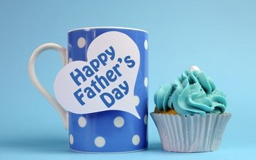 mug, gift, sweet, cakes, cupcake, father's day