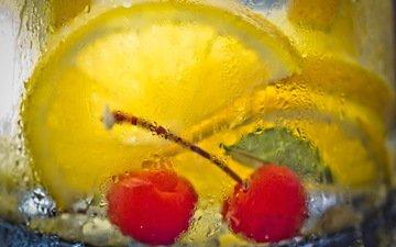макро, напиток, стакан