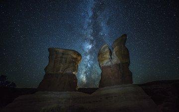 природа, космос, звезды, млечный путь