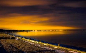 восход, море, побережье, на природе, январь