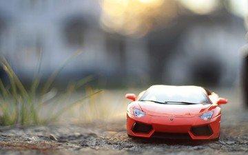 машина, красная, игрушка, машинка