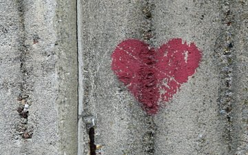 background, wall, heart