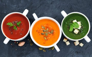 томат, тыква, семечки, суп, шпинат