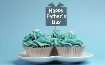 gift, sweet, plate, cakes, cupcakes, father's day