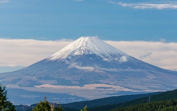 гора, япония, киото, вулкан, фудзи, токио, остров хонсю