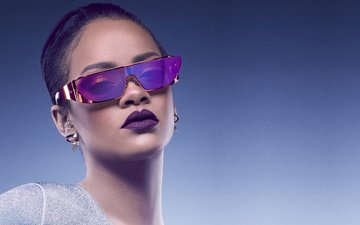 glasses, face, singer, makeup, rihanna, sun, dior sunglasses, diva