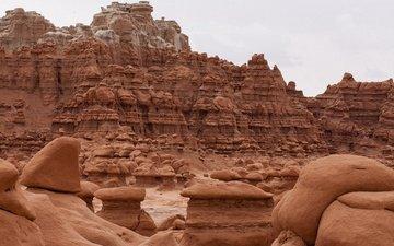 каньон, красота, сша, штат юта, гоблин долина