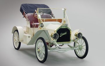 retro, white, convertible, buick, 1908, model 10, touring runabout