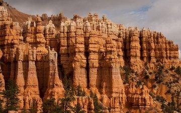 небо, скалы, каньон, сша, брайс-каньон, национальный парк, штат юта, брайс-каньон.