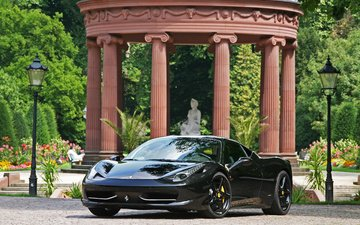 nature, black, car, ferrari, sports car