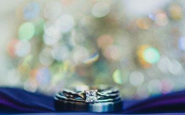 камень, кольцо, боке