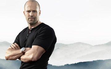background, pose, look, actor, watch, jason statham