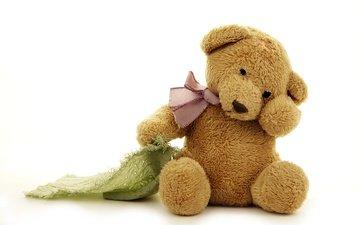 медведь, мишка, игрушка, тедди, игрушечная, бантик, медвед, миленькая