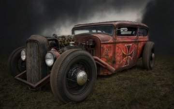retro, hot rod, rat rod