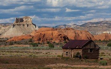 каньон, дом, сша, долина, штат юта, парк кодакром бейсин