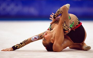 pose, smile, sport, gymnastics, alina kabaeva