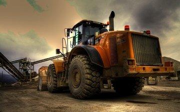 гигант, техника, гусеница, бульдозер, стальной, тракторы