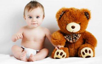 мишка, игрушка, ребенок, тедди, малыш, младенец, игрушек, детские, медвед, пацан, infants, дитя