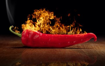 reflection, fire, vegetables, chile, pepper, sharp, chili