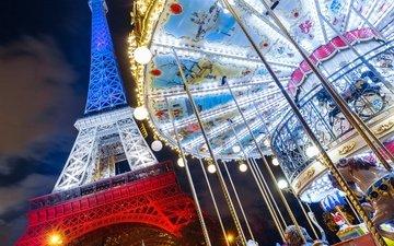 париж, франция, эйфелева башня, франци, карусель, эйфелева башня