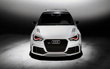white, auto, audi, tuning, quattro, the hood, a1