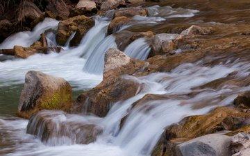 река, камни, поток, сша, вирджиния, штат юта, andre radke