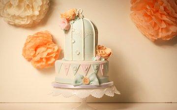 цветы, розы, сладости, свадьба, сладкое, выпечка, торт, десерт, декор, роз