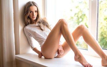 девушка, взгляд, попа, трусики, модель, ягодицы, милая, фигура, секси, белье, стринги, попка, красивая, симпатичная, няшка, сексуальная, стройная, ногами