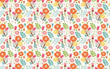 flowers, pattern, spring