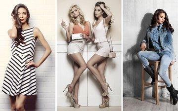 стиль, девушки, одежда, красивые, мода
