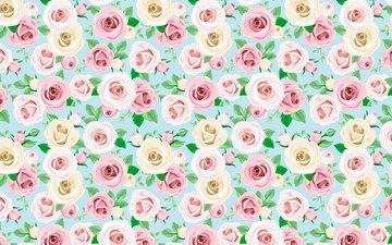 flowers, pattern, roses