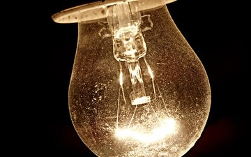 light, night, macro, background, light bulb