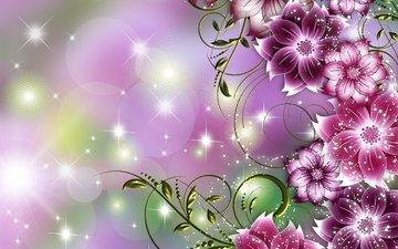 flowers, figure, petals
