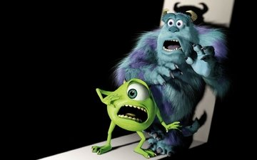 monsters inc., monsters university