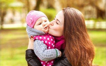 любовь, счастье, поцелуй, мать, дочь
