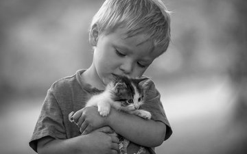 mood, black and white, kitty, love, boy, friendship, friends, monochrome
