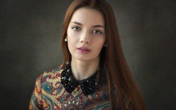 девушка, портрет, взгляд, шатенка, волос, наташа, dmitrij butvilovskij, наталья