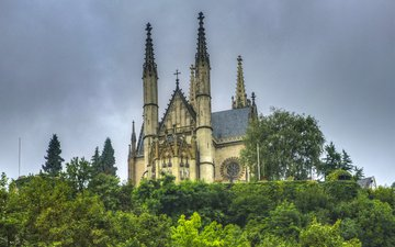 храм, собор, город, монастырь, германия, apollinaris kirche remagen