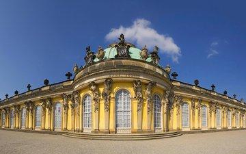 дворец, германия, потсдам, сан-суси