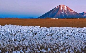 горы, природа, вулкан, чили, боливия, ликанкабур
