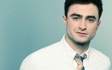actor, male, tie, celebrity, bristles, daniel radcliffe