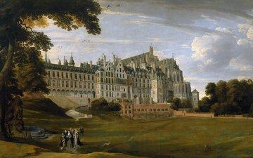 картина, пейзаж, ян брейгель старший, королевский дворец тервюрен в брюсселе